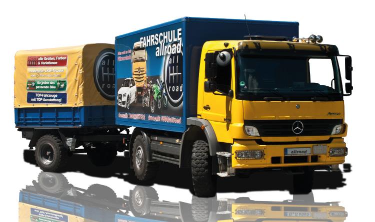 Berufskraftahrer LKW Mercedes Benz Atego 1024 mit Anhänger
