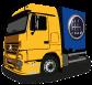 Berufskraftfahrer LKW von der Seite