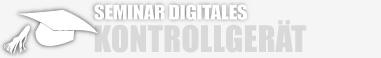 Überschrift Grafik Seminar digitales Kontrollgerät